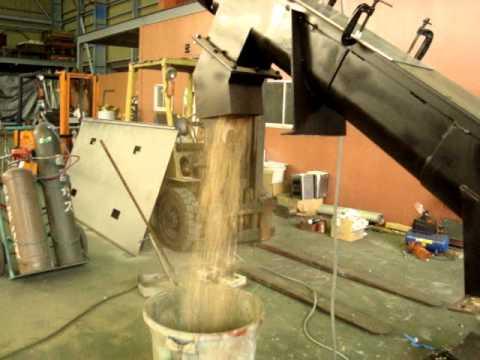 木質破材チップ(おがくず)搬送テスト動画