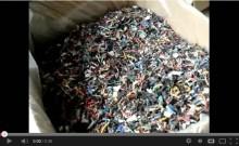 電線切断材の垂直型スクリューコンベアによる搬送テスト[動画]