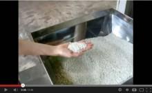 樹脂ペレットの垂直型スクリューコンベアによる搬送テスト[動画]