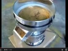 だし抽出残揸 小型振動ふるい機テスト 目開き1.18mm
